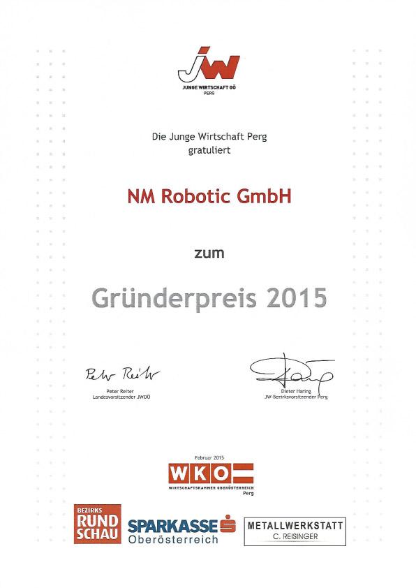 NM Robotic Gründerpreis 2015